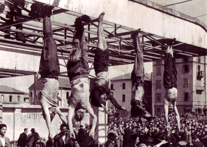 смерть дуче, смерть Бенито Муссолини, конец диктатора